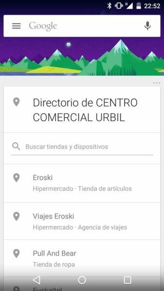 Ahora Google Now te mostrará un directorio de tiendas cuando detecte que estás en un centro comercial