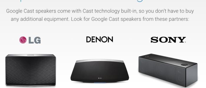 Ya disponibles los primeros altavoces compatibles con Google Cast, de manos de LG