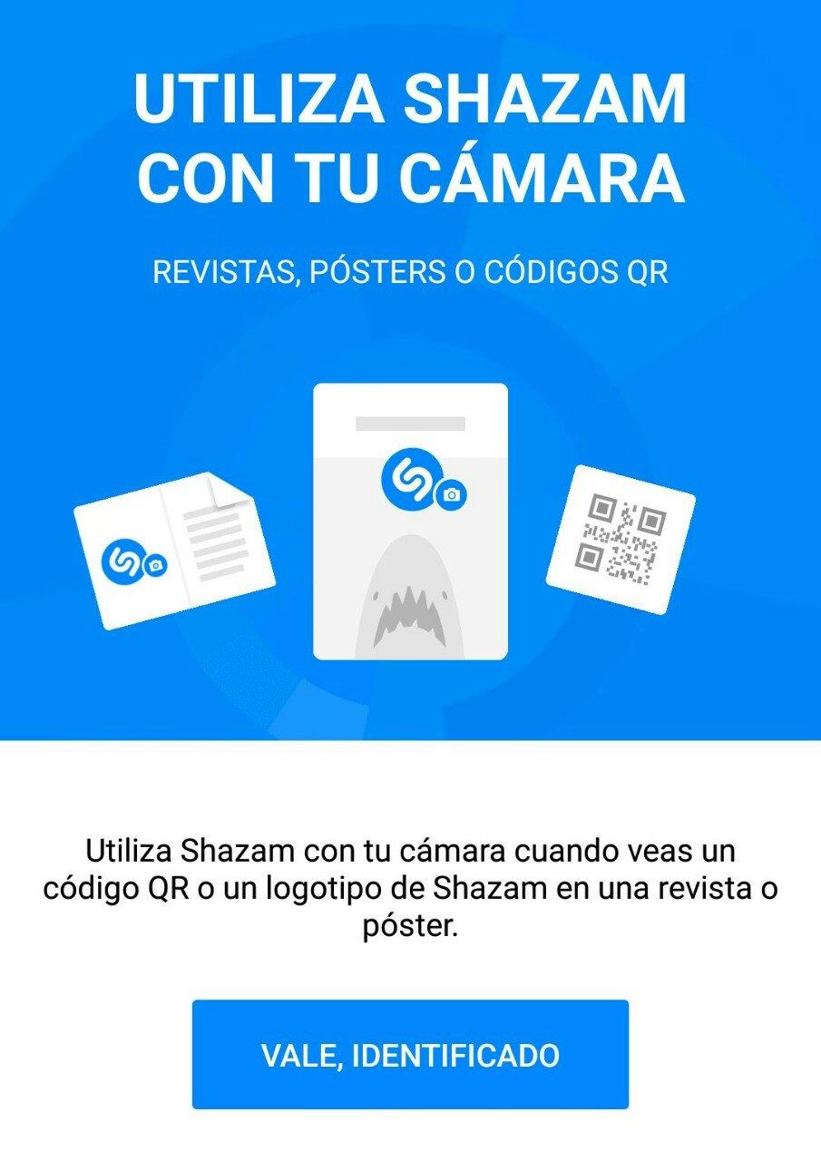 Shazan permite acceder a contenido directamente escaneando con tu cámara