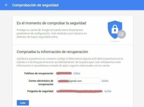 Revisa la seguridad de tu cuenta de Google y consigue 2 GB gratis