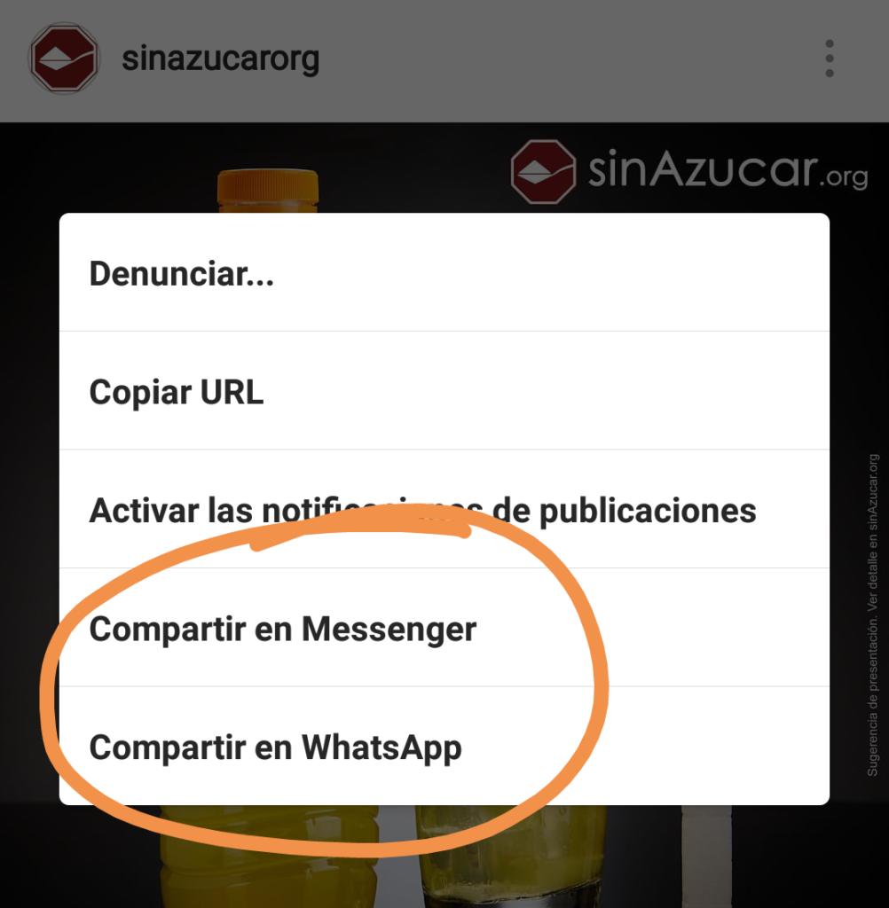 #Instagram ahora te permite compartir también con #WhatsApp además de Facebook #Messenger