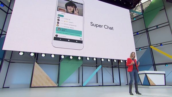 Google I/O 2017 - YouTube - Super Chat