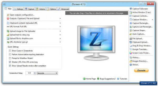 ZScreen y buscando en la nube