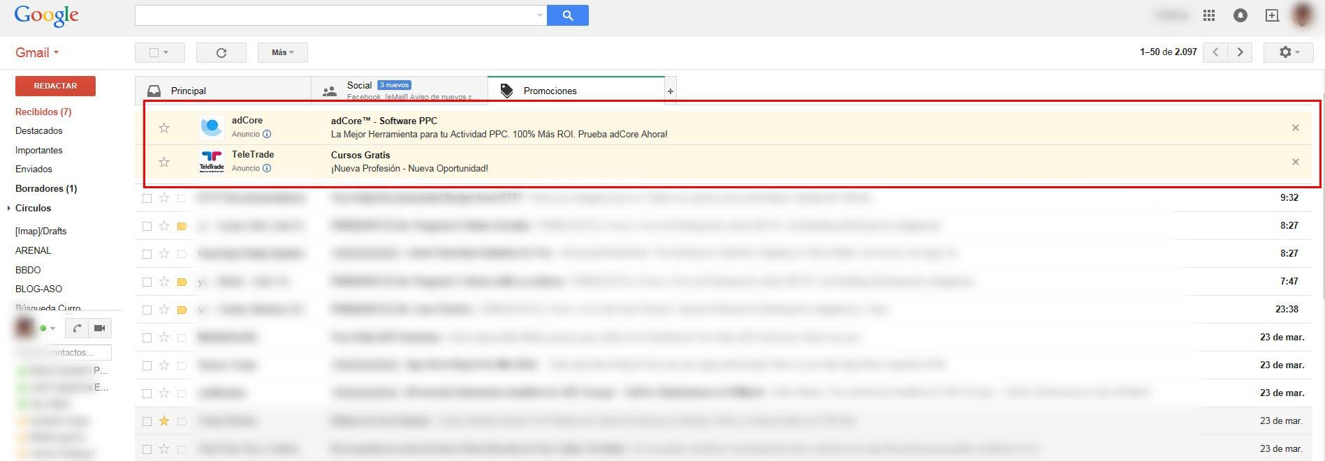 Gmail ya no personalizará su publicidad según el contenido de tus correos