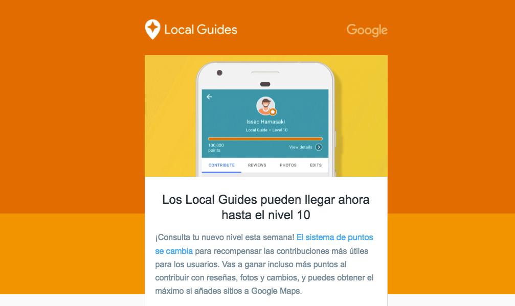 Google reorganiza Local Guides para disponer de más niveles y recompensas