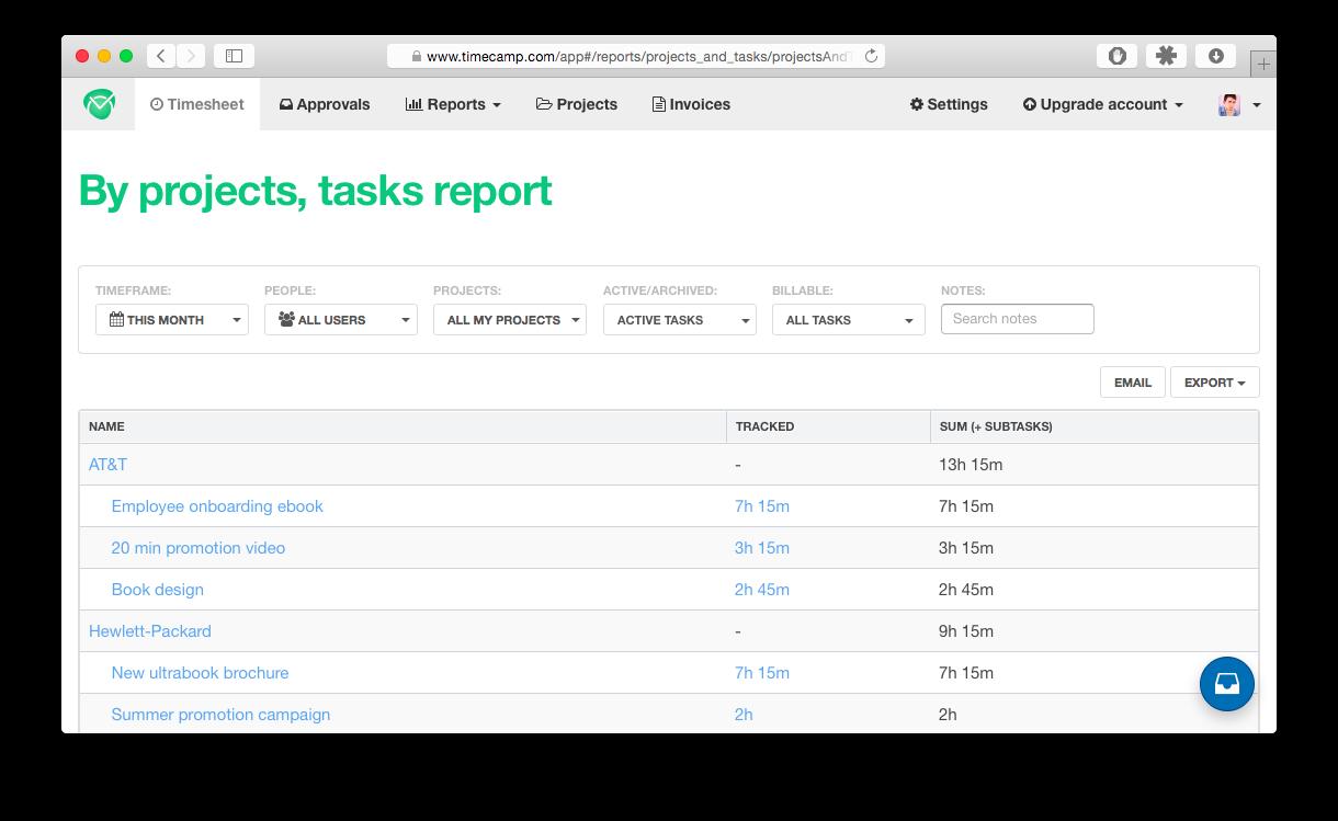 TimeCamp: configurar el estado inicial de facturación de las tareas