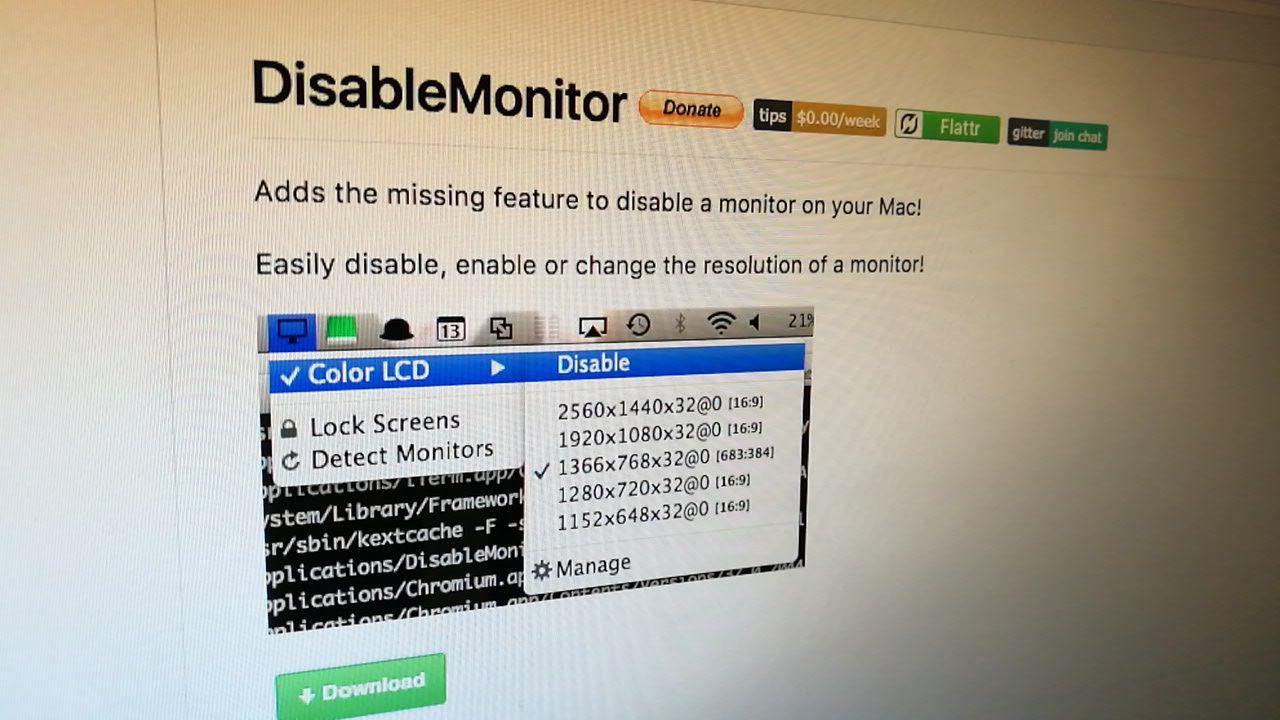 Apaga y controla tus monitores en macOS con DisableMonitor
