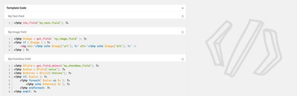 ACF Theme Code, plugin para WordPress que genera el código de los campos de ACF