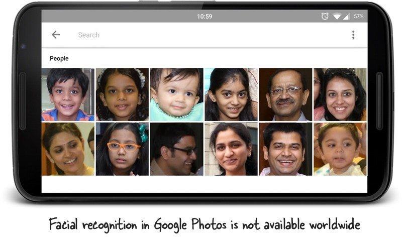 Sigue este truco para habilitar el reconocimiento de caras en Google Fotos