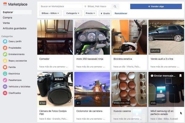 Facebook ha creado su propio Wallapop llamado Marketplace