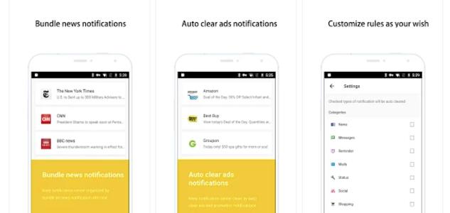 Inbox de notificaciones, gestión de notificaciones en Android a lo GTD