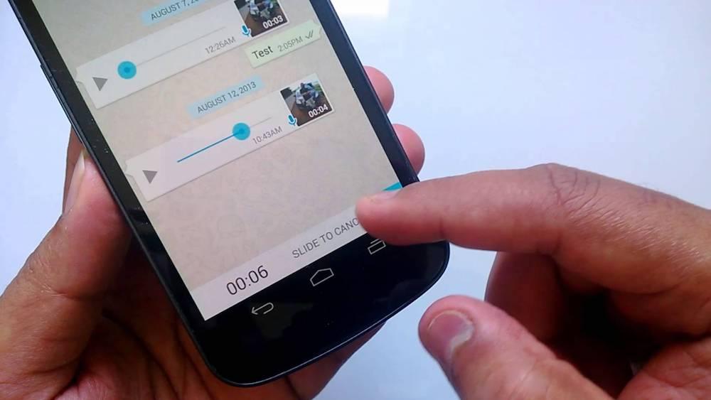 WhatsApp ahora permite enviar audios con un solo toque