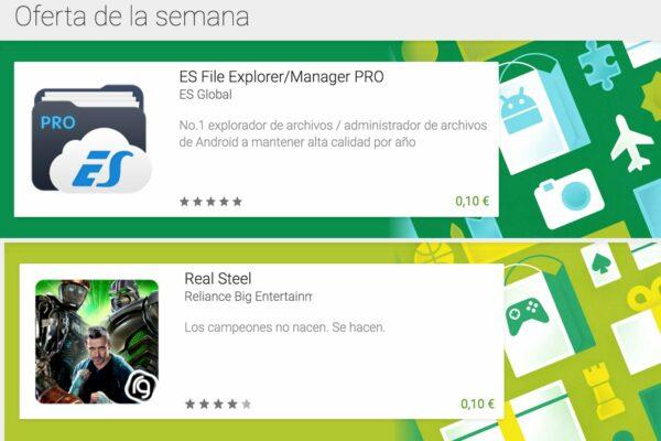 Ofertas de la semana: ES File Explorer y Real Steel por 0,10€ - El Androide Libre