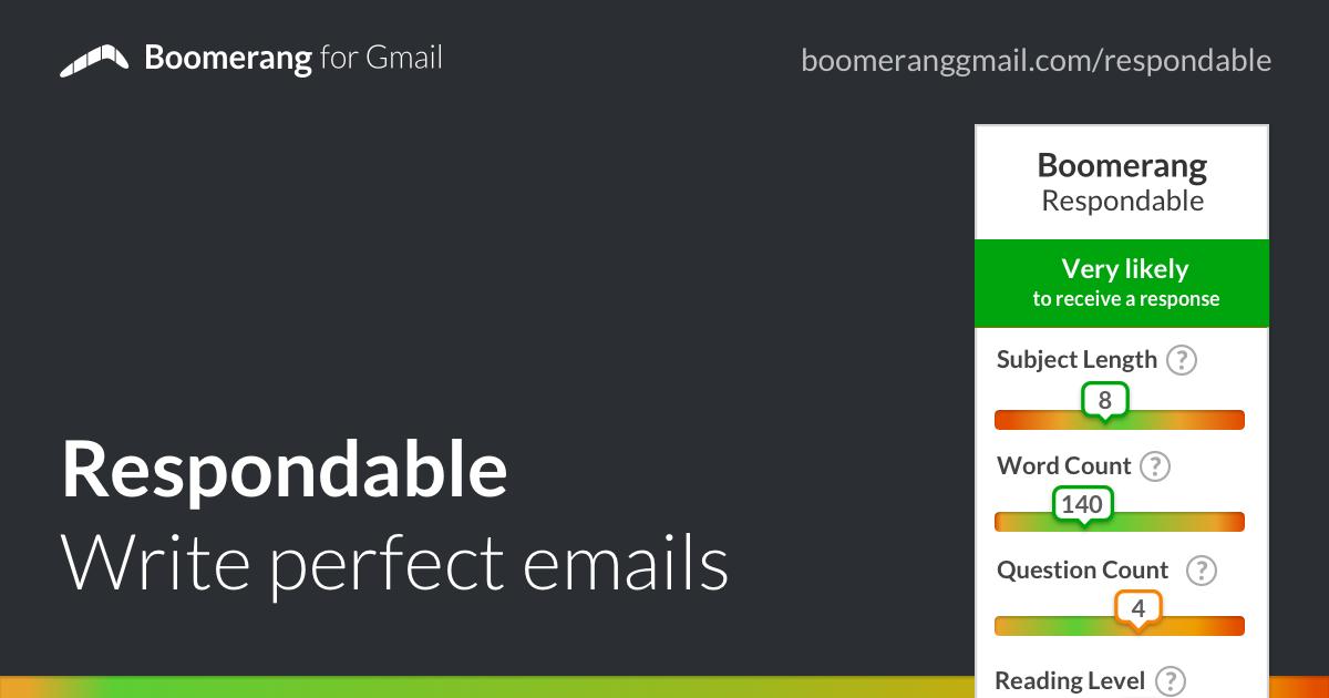 Boomerang Respondable, asistente para que tus emails sean más respondidos
