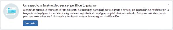 Facebook pronto tendrá foto de perfil circular