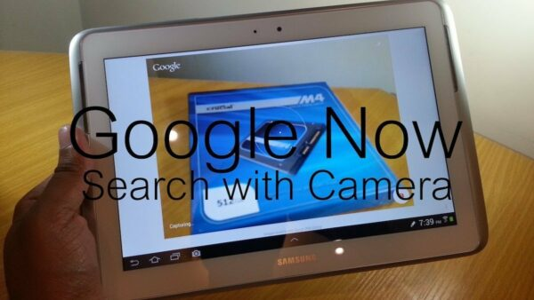 Search with camera, la función de Google Now que identifica lo que ve la cámara