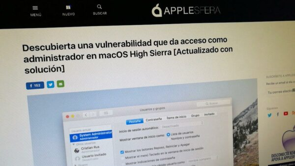 Apple ha publicado ya el parche para su gran bug de macOS High Sierra root-gate