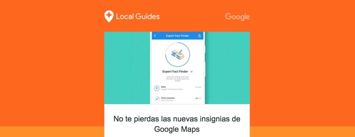 Google Local Guides añade 4 nuevas insignias para incitarte a colaborar más en Google Maps