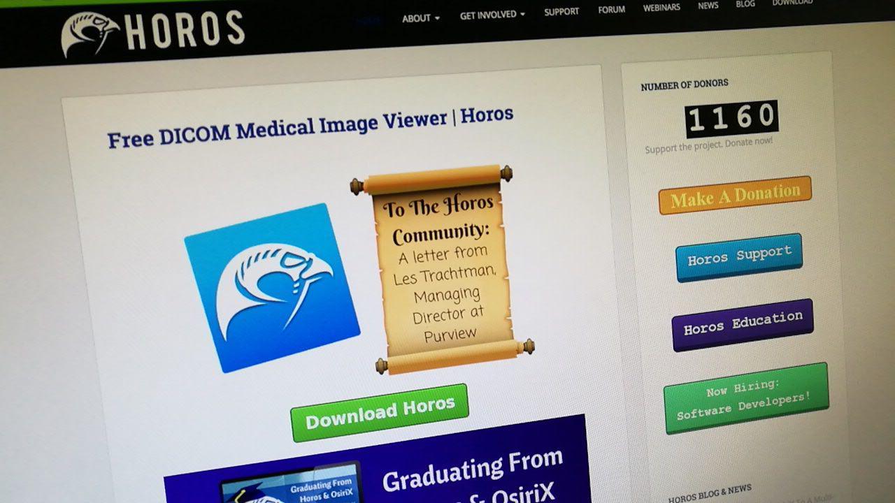 Horos, ver y guardar imágenes de TAC en formato DICOM