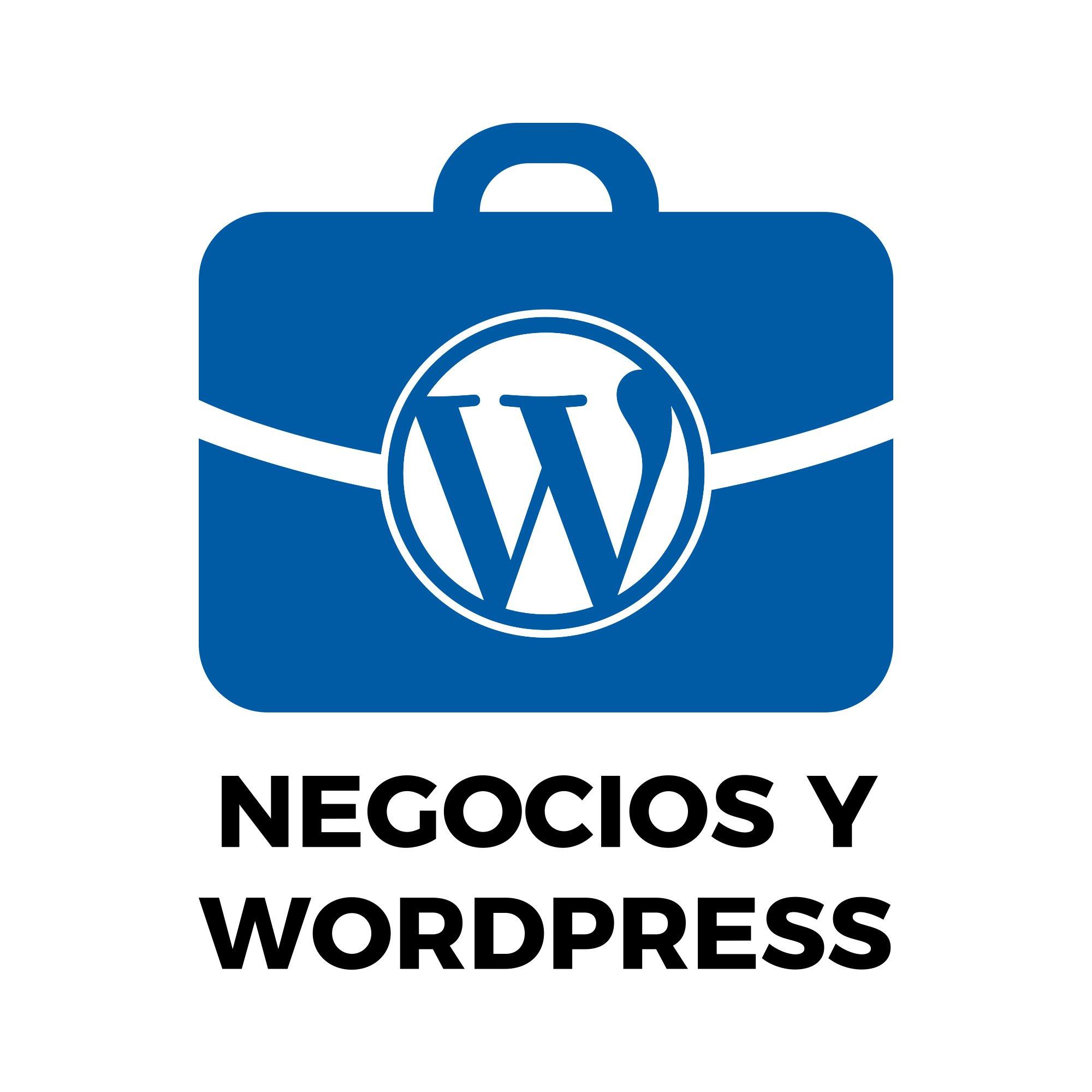Imagen representativa de Negocios y WordPress
