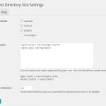 Dashboard Directory Size, plugin para conocer el espacio de alojamiento que ocupa tu WordPress, incluyendo multimedia