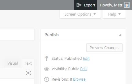 WordPress Exporter, plugin para exportar entradas o páginas individuales