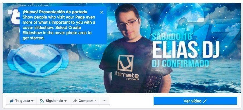 Ahora podemos añadir una presentación de fotos en la portada de las Páginas de Facebook
