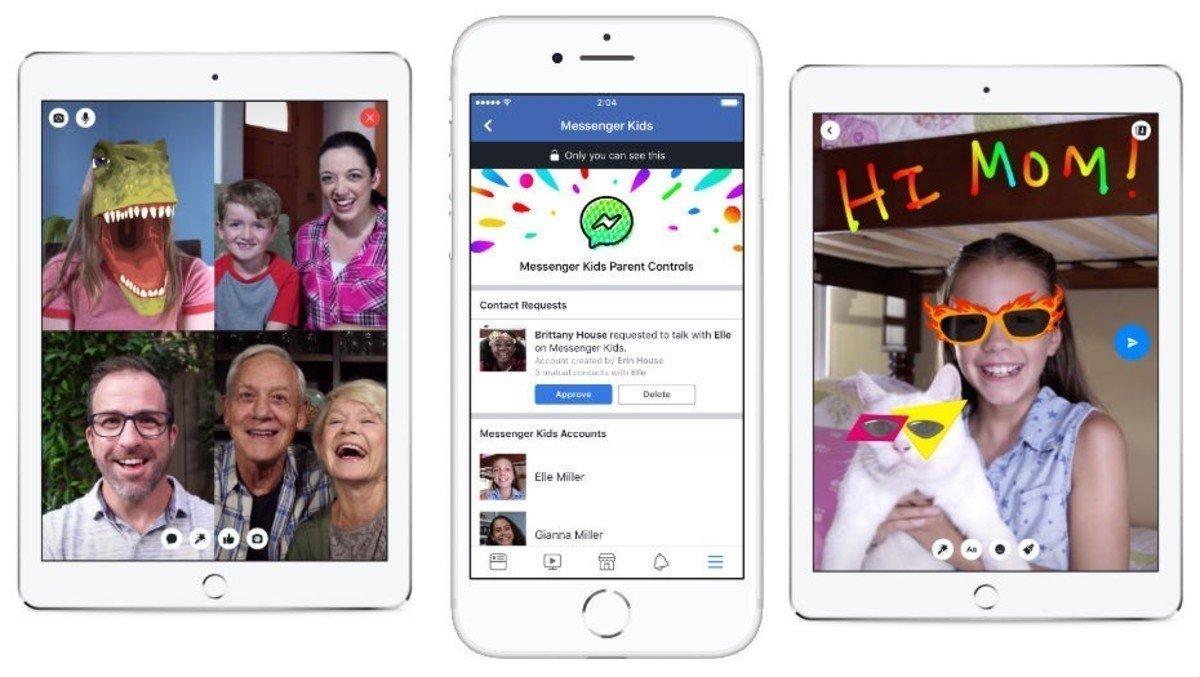 Facebook lanza Messenger Kids, plataforma de chats para niños (y padres)