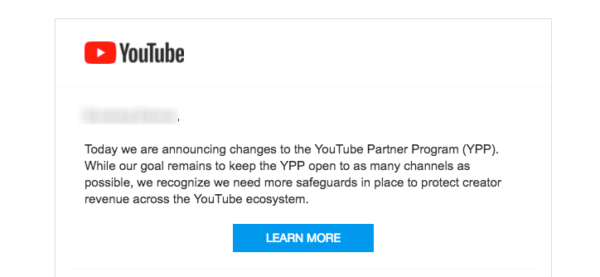 YouTube endurece las normas de monetización dejando fuera del programa muchos canales