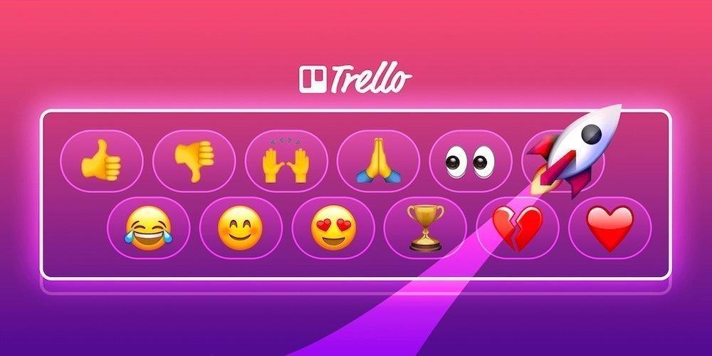 Trello añade reacciones con emojis a los comentarios