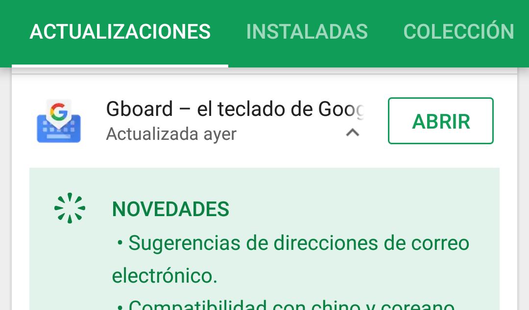 Google Play Store ahora te muestra las novedades de las aplicaciones en la pestaña de actualizaciones