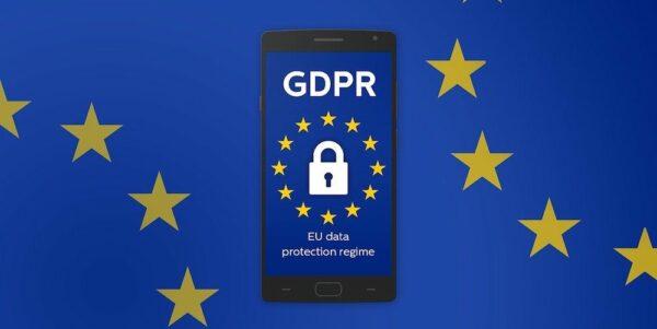 Teléfono con imagen sobre RGPD o GDPR