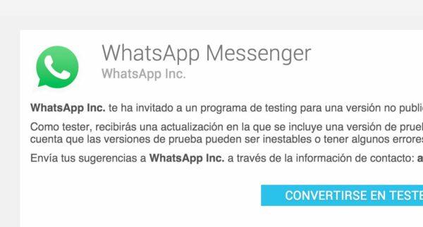 Ya podemos probar WhatsApp Beta desde Google Play