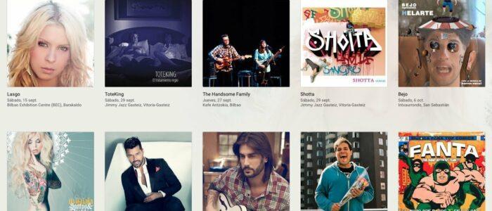 Traducciones imprecisas: Actuaciones cerca de ti por Google Play Music