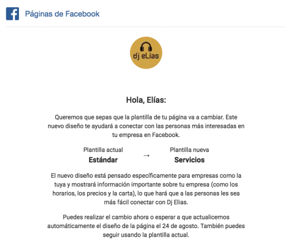 Novedades en las Páginas de Facebook: nuevas plantillas, conectar tu CRM y me gusta en notificaciones