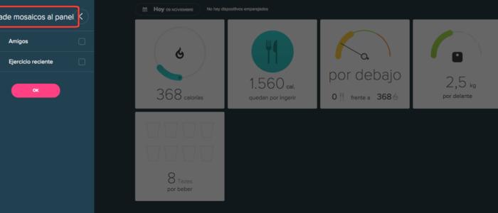 Traducciones imprecisas: Añadir mosaicos al panel, por Fitbit