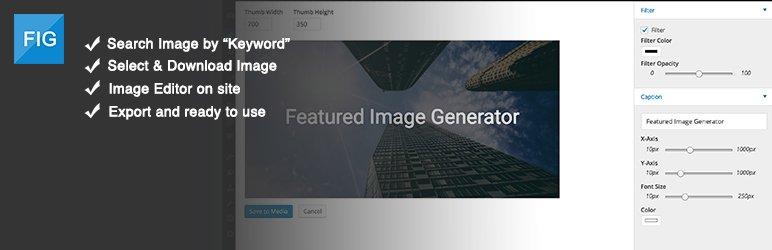 Featured Image Generator, plugin para diseñar imágenes destacadas desde tu WordPress
