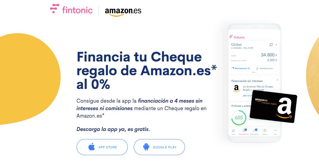 Financia tus compras de Amazon sin intereses con Fintonic