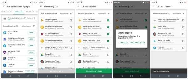 Google Play Store ahora te permite desinstalar aplicaciones en lote