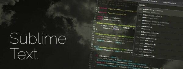 Interfaz del programa Sublime Text