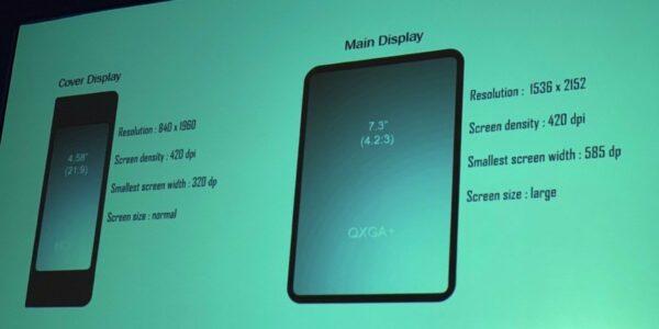 Samsung ha presentado un teléfono plegable