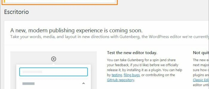 Resumen WordPress: noticias, Gutenberg y plugins