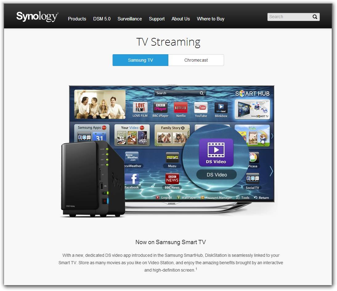Synology lanza versión para smart TV de DS Video