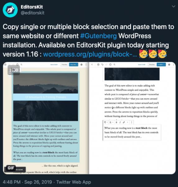 EditorsKit para Gutenberg