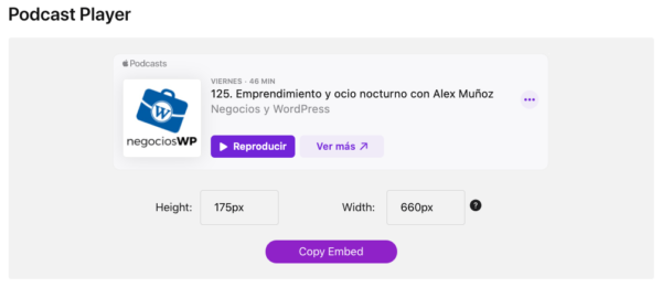 Apple Podcasts ahora te permite incrustar un reproductor nativo en tu página web