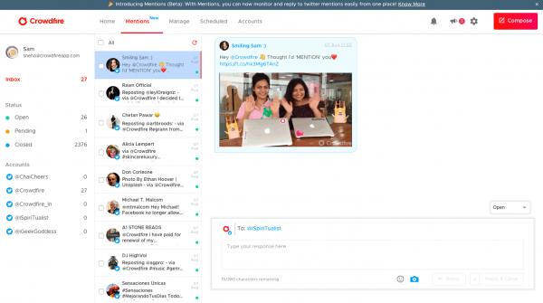 Panel de control de Crowdfire - Herramientas para redes sociales