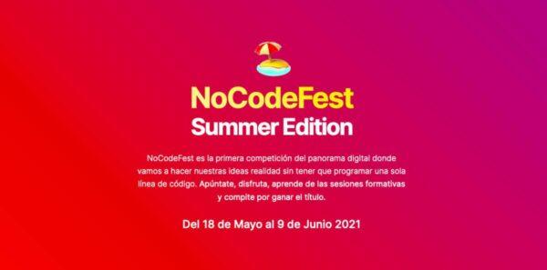 Hemos quedado segundos en el concurso de proyectos de NoCodeFest 2021💪
